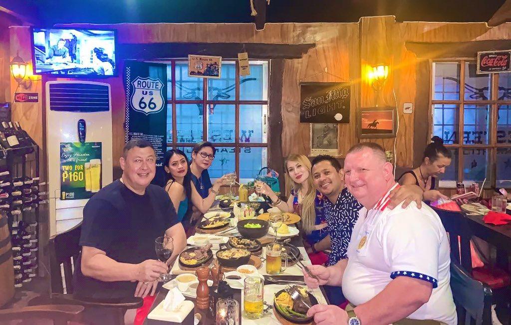 FOOD : Its Cowboy time! Steak restuarant in LapuLapu. Western Steak with White wine, Beers & shots of jagermeister for Dinner! #G8 #steaknight #friends #lapulapu #cebu #philippines