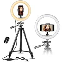 """Best Seller for smartphones/accessories- buy now #blogging #TBT #FoundItOnAmazon              UBeesize 10"""" Selfie Ring Light with 50"""" Extendable Tripod Stand & Flexible Phone Holder for Live Stream/Makeup/YouTube Video"""