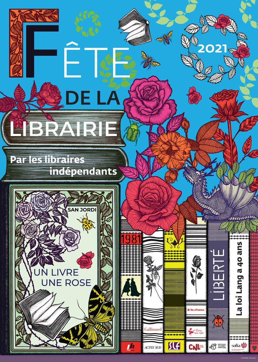 [#1ermars] : Le printemps approche, l'occasion de célébrer les libraires ! #nature #LundiMotivation #commerceessentiel #librairie #culture #livre #unlivreunerose #sanjordi #art #michaelcailloux