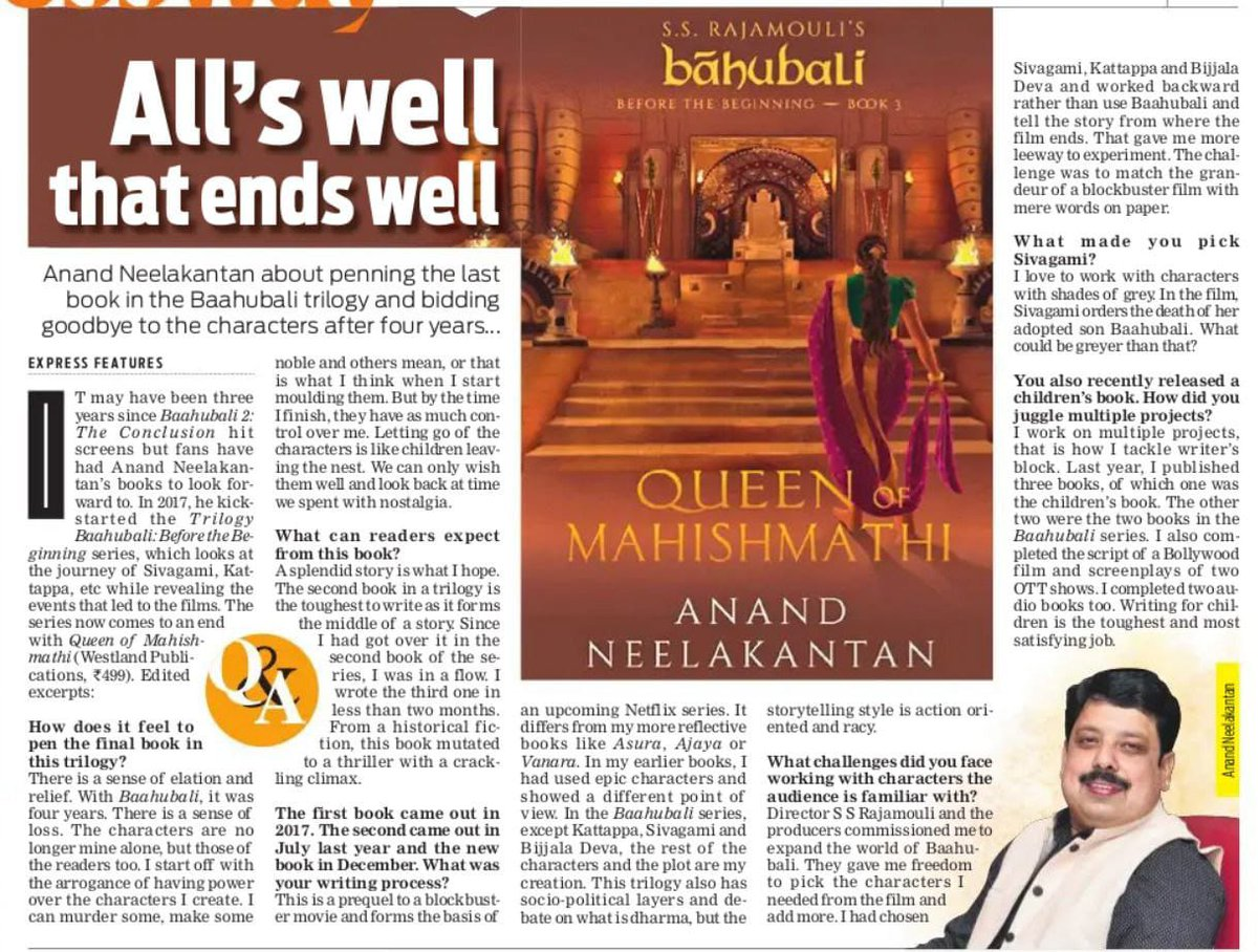 Replying to @itsanandneel: My interview in the  @NewIndianXpress