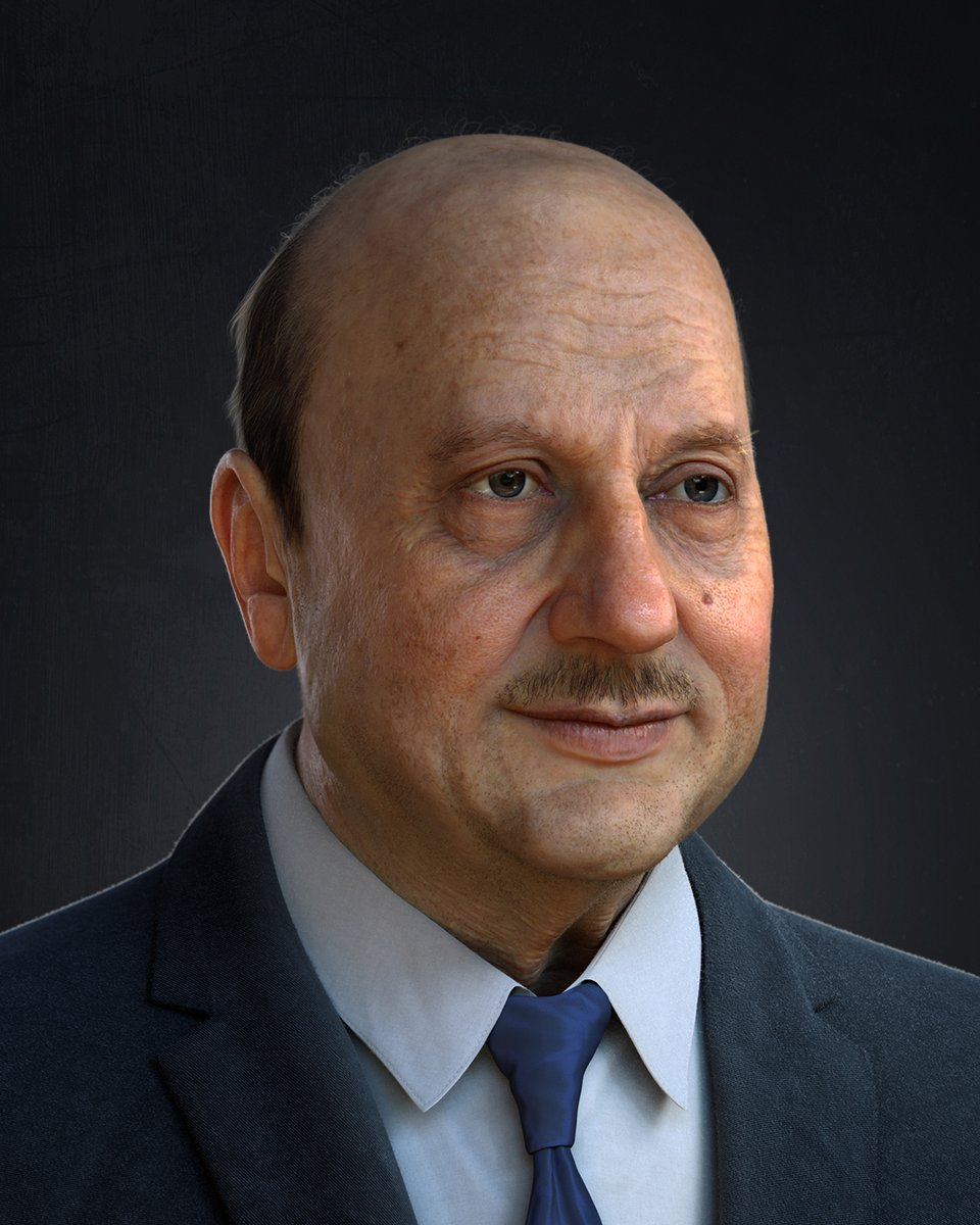 Dear @AnupamPKher Sir wish you all the best for your Book #YourBestDayIsToday. and in such occasion, it's My best day is today ☺️to present you my recent 3d artwork I did.  you were my motivation in this pandemic time. @kher_kiran @ArtStationHQ #MadeInIndia #Digital3D #3DArt