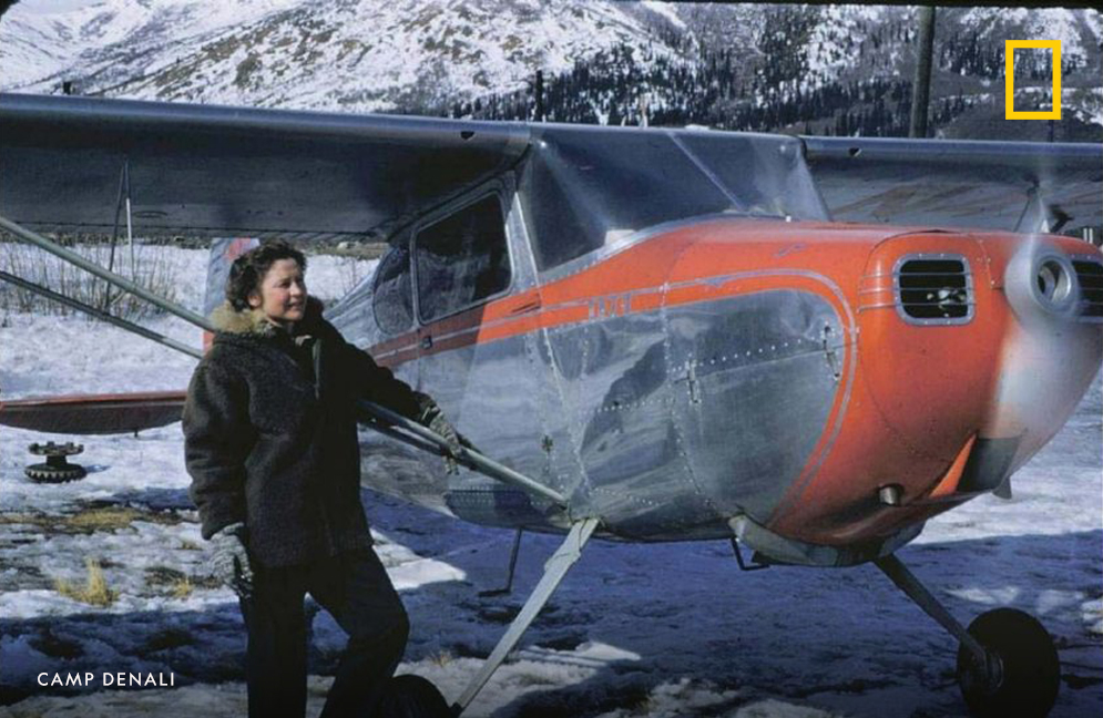 My former neighbor Ginny Wood, became a pilot during WW2. After the war she found herself stuck in Fairbanks, Alaska during winter unable to fly home. She decided to stay and became a pioneer in the Alaskan conservation movement and the founder of Camp Denali. 15/23
