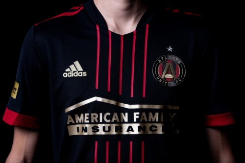 Check out the new @ATLUD BLVCK Kit for the 2021 season! They're sponsored by @AmFam and are a reflection of the club's five pillars: Unity. Excellence. Community. Determination. Innovation.  #iWork4AmFam