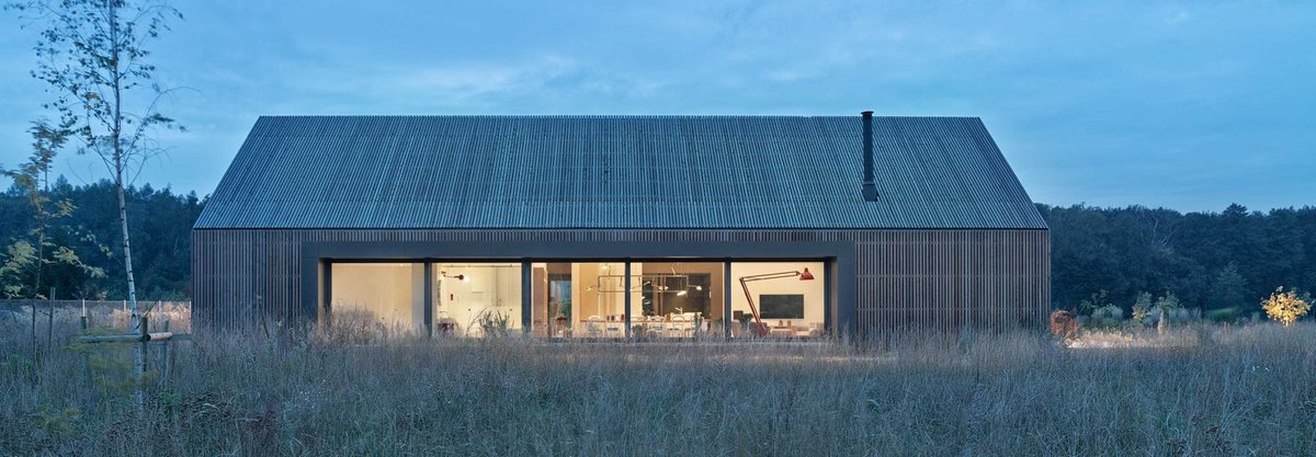 ARCHIPLAIN Modern, barn-inspired home ages gracefully in a wild Pozna meadow  #free #plan #apartment
