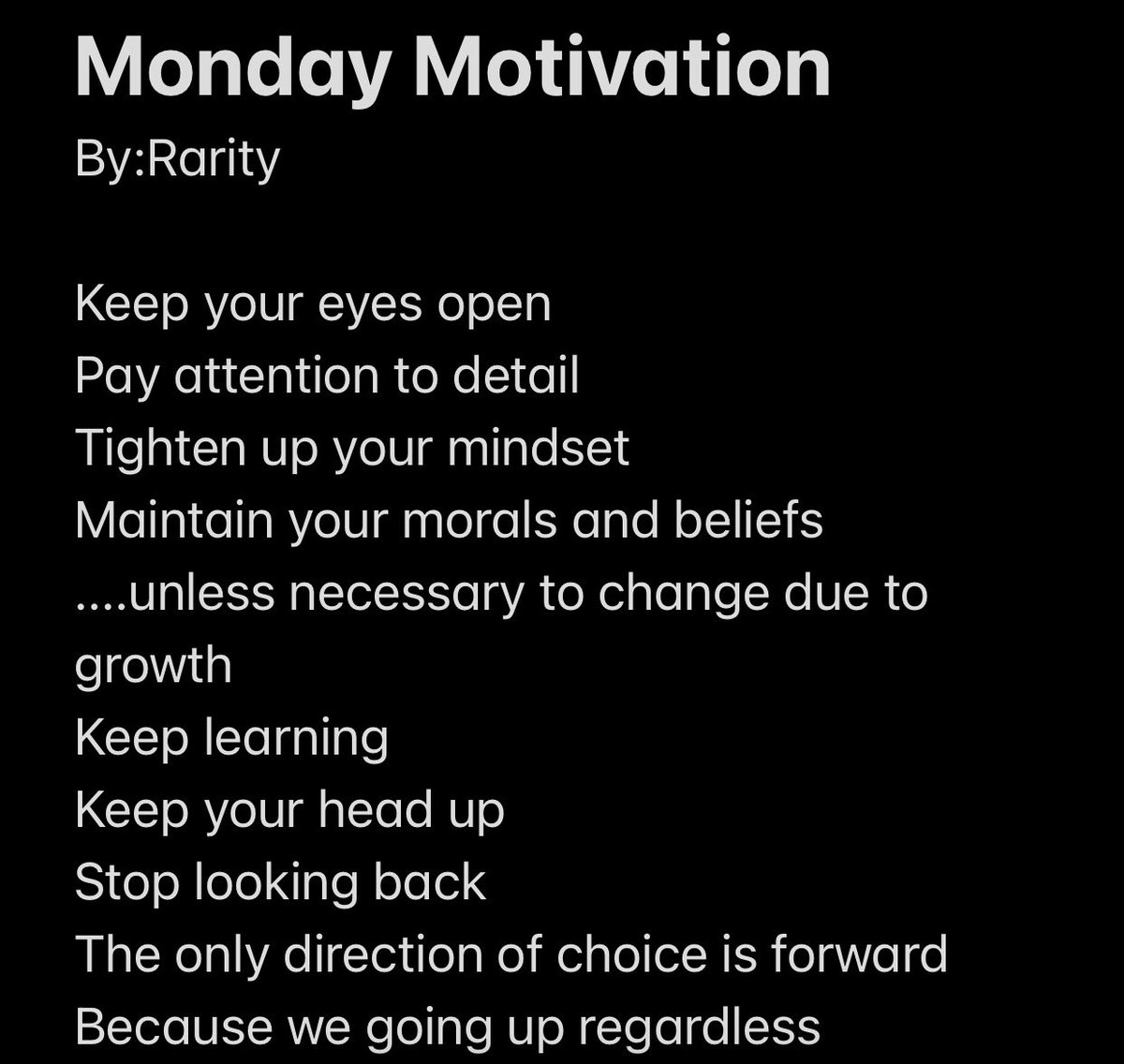 #MondayMotivation