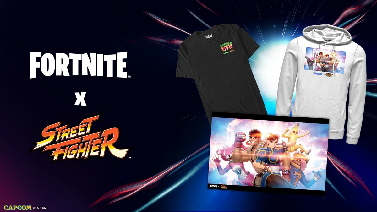 Round 1. FIGHT 💥  We've teamed up with @CapcomUSA_ to bring you @Streetfighter gear inspired by the Street Fighter Set in-game!  Check it out here: