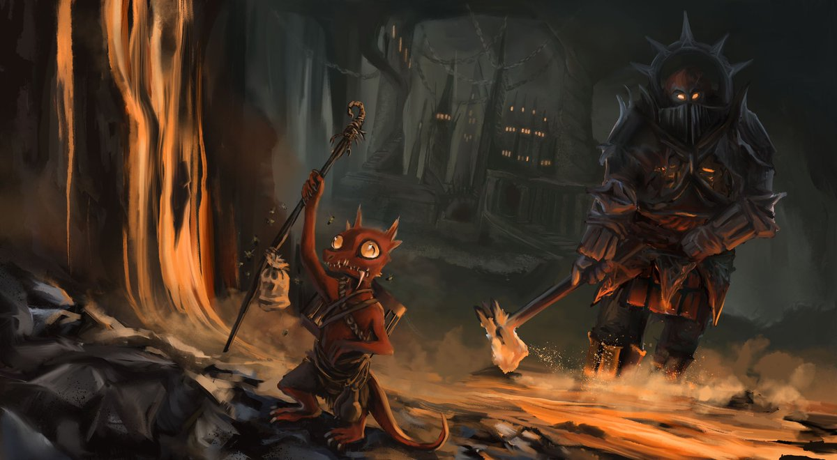 """""""I win!""""  An ode to the short-lived kobold, Spurt. Thank you @ChrisPerkinsDnD for this chaos with us.   #criticalrolefanart #CriticalRole #dungeonsanddragons #elevendays"""