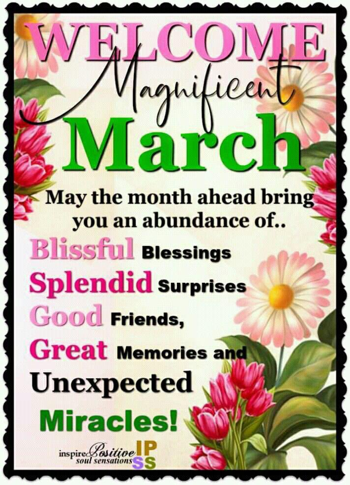 Happy March! March is the BEST-EST month of the year!! It's the month of spring🌺🌸, rejuvenation🌱🥀, plus some AMAZING people are born in March!!☺️😉♥️🌹 Y'all have an amazing month!! #March2021 #March1st #MarchMadness #March #MarchWish #mondaythoughts #newmonth #birthdaymonth
