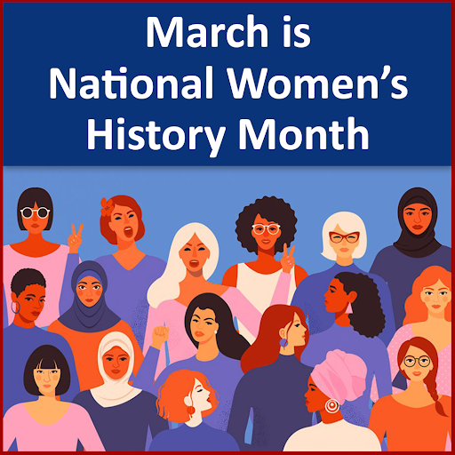 March is Women's history month! Check in with us for special virtual events, women biographies and more!  Learn more at  #WomensHistoryMonth