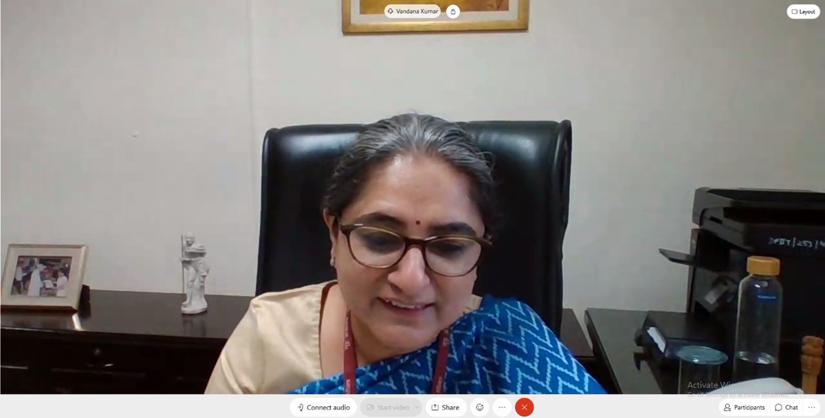Day 44: #UdyogManthan Quality in Government Processes Dr. Vandana Kumar(@vandanakr24x7), JS,DPIIT traversed Indias reform journey and shared thoughts on increasing efficiency and effectiveness of public expenditure.