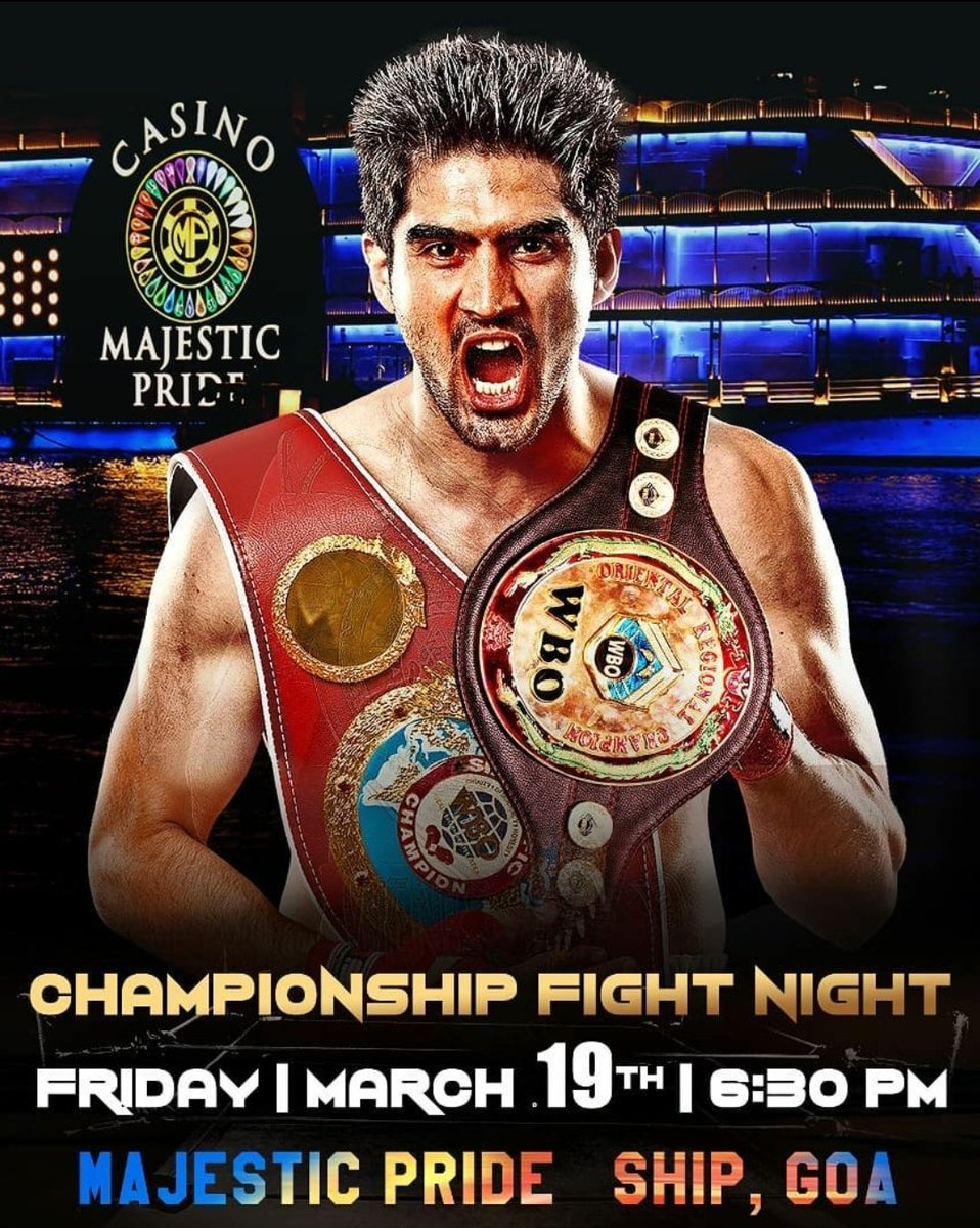 Indian Boxing Star @boxervijender is back in the ring.  (📷 Via: @IOSBoxing)  #vijendersingh #India #champions #staytuned #wbo #wbochamp #octagon #mma #ufc #boxing #bjj #muaythai #kickboxing #jiujitsu #fitness #martialarts #wrestling #fight #grappling #fighter #Training #bhfyp