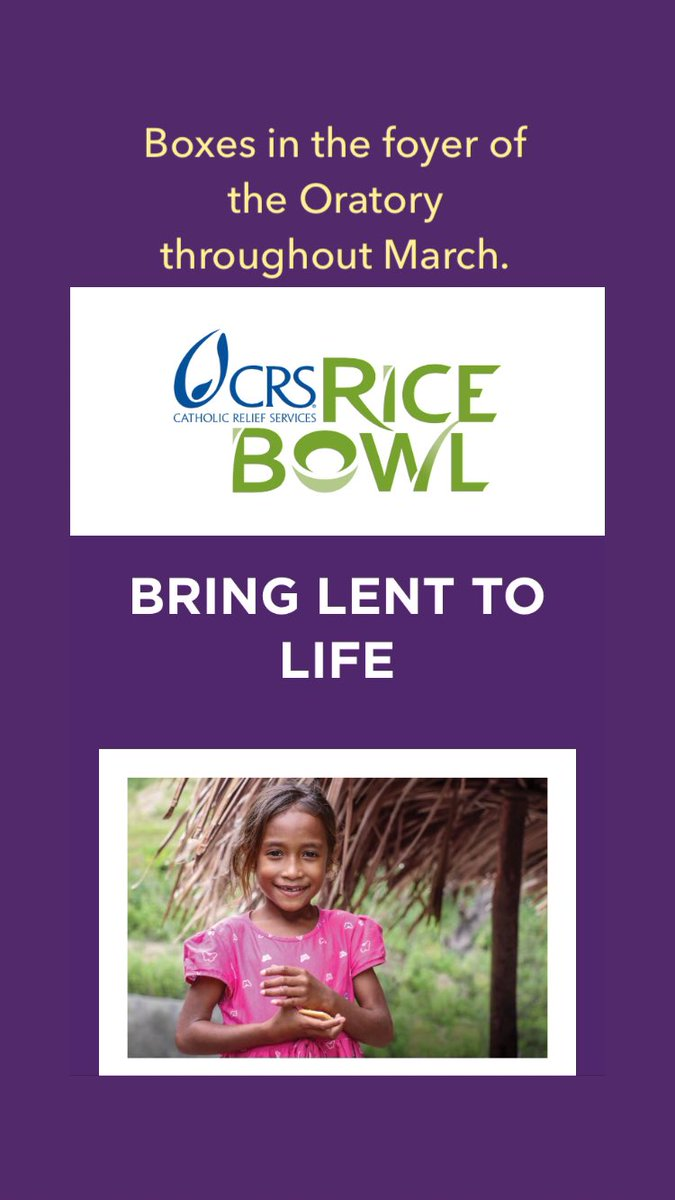 We thank you for your generosity for this Catholic Relief Services event throughout the month of March.  #lentenseason #ricebowl @CatholicRelief