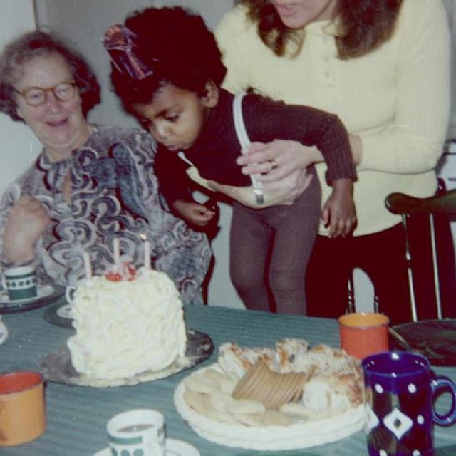 My love of cooking was sparked by my grandmother, Helga. It's her recipe for meatballs that's always on the menu at @RoosterHarlem. Not sure what I wished for, but I know she was hoping it would come true. Thanks for supporting me and encouraging me, Mormor. #WomensHistoryMonth