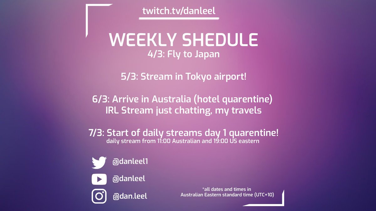Here's my upcoming schedule for the week! 📹   #SmallStreamers #smallstreamer  #twitchstreamer  #aussiestreamer #irlstream #irlstreamer #justchatting #justchattingstreamer #twitch #twitchaustralia #follow4follow
