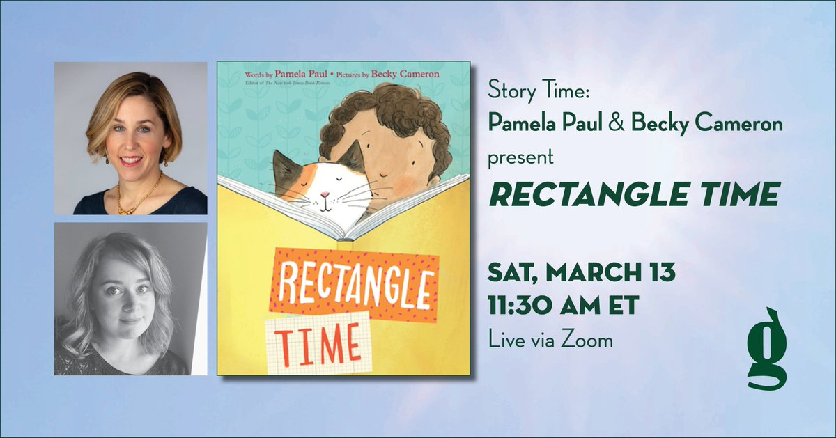 Excited to be joining @PamelaPaulNYT for story time with @greenlightbklyn on the morning of Saturday 13th (4:30pm for us Brits!) For more information and to book your place head over to https://t.co/RubEyKFSaW https://t.co/duJ7jB4cJ8