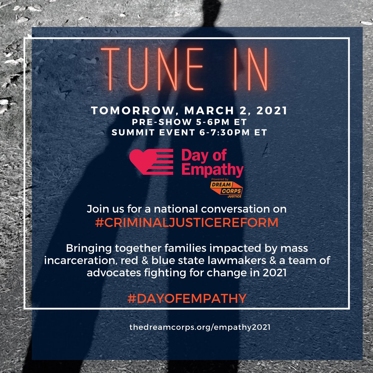 """Common ground unity leads to common-sense solutions. Unite with us for the #DayofEmpathy as we build bridges towards freedom, redemption, and second chances.  🤝  📲 Join the fight from your home state - text """"EMPATHY"""" to 97483."""