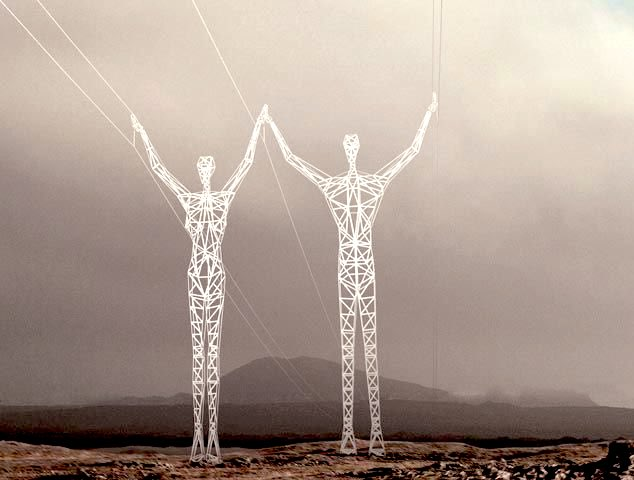 When art and power meet  #KEC #TransmissionTowers