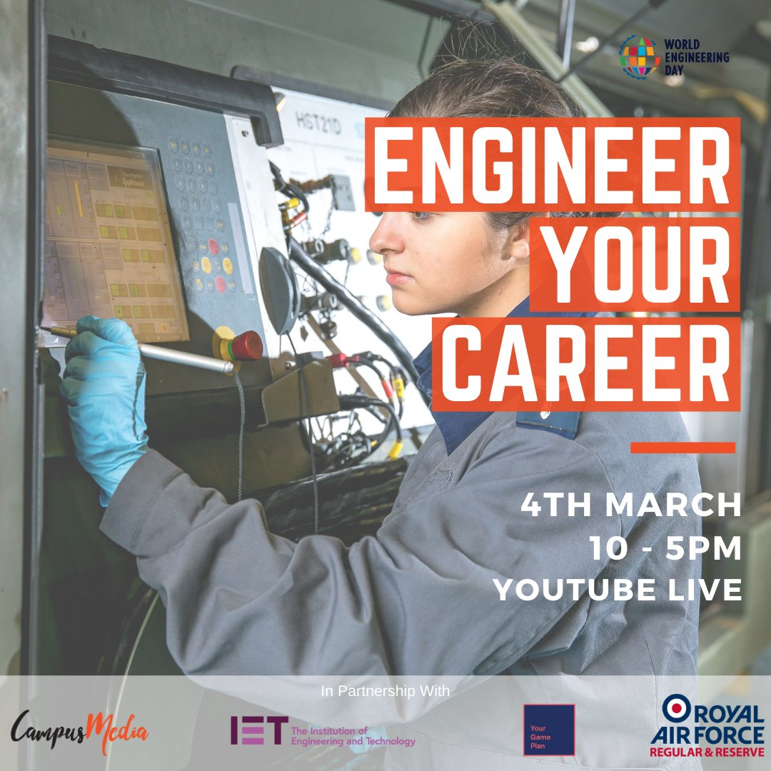 This Thursday is #WorldEngineeringDay   #EngineerYourCareer is a virtual and free event sh…