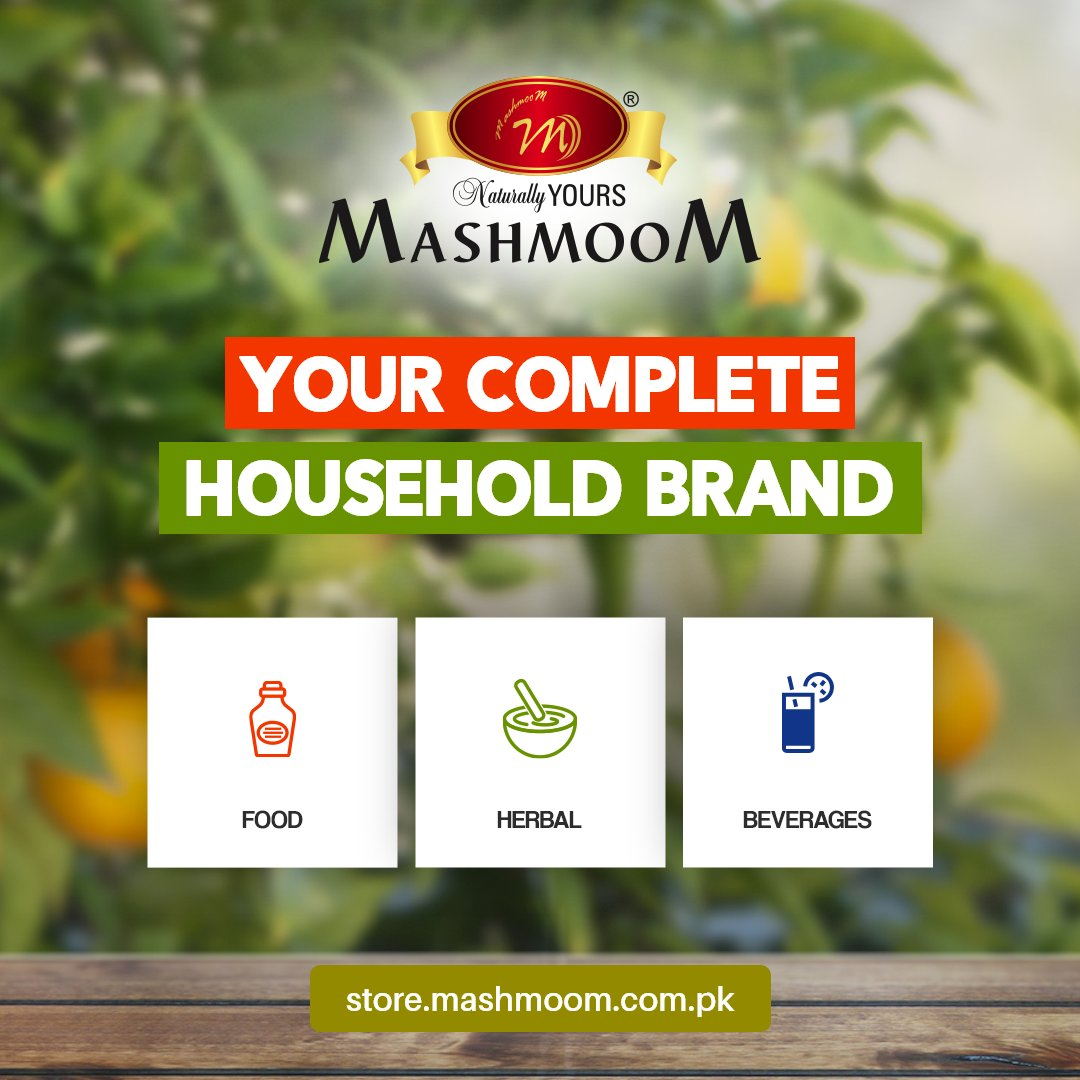 Mashmoom offers high quality household food items, beverages & herbal products available on the shelf.    For our full range visit:    #NaturallyYours #nature #healthy #healthylifestyle #wellness #food #Ayurvedic #Sauces #Jams #Beverages #LiveWell #pakistan