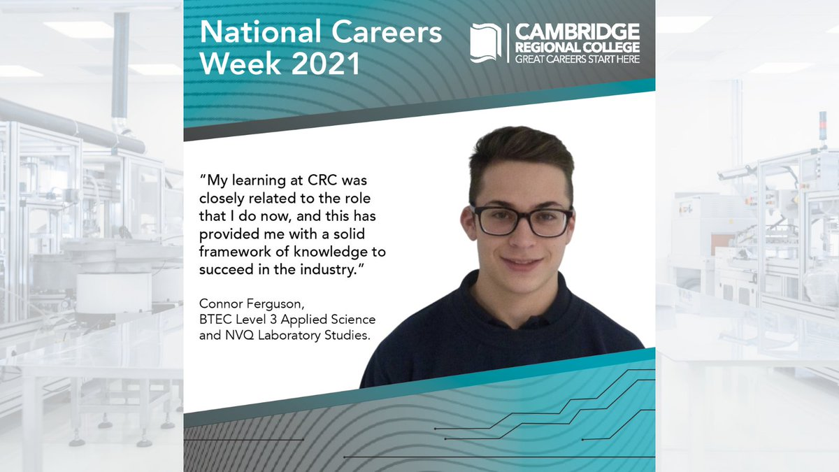 Upon completing his apprenticeship with @Johnson_Matthey, Connor Ferguson secured a role within the company where he continues to work as Research & Development Tehnician. Find out about Connor's journey to a great career, https://t.co/hJTOy5zi5H @CareersWeek  #WeAreCRC #NCW2021 https://t.co/I6GLd4kQqk