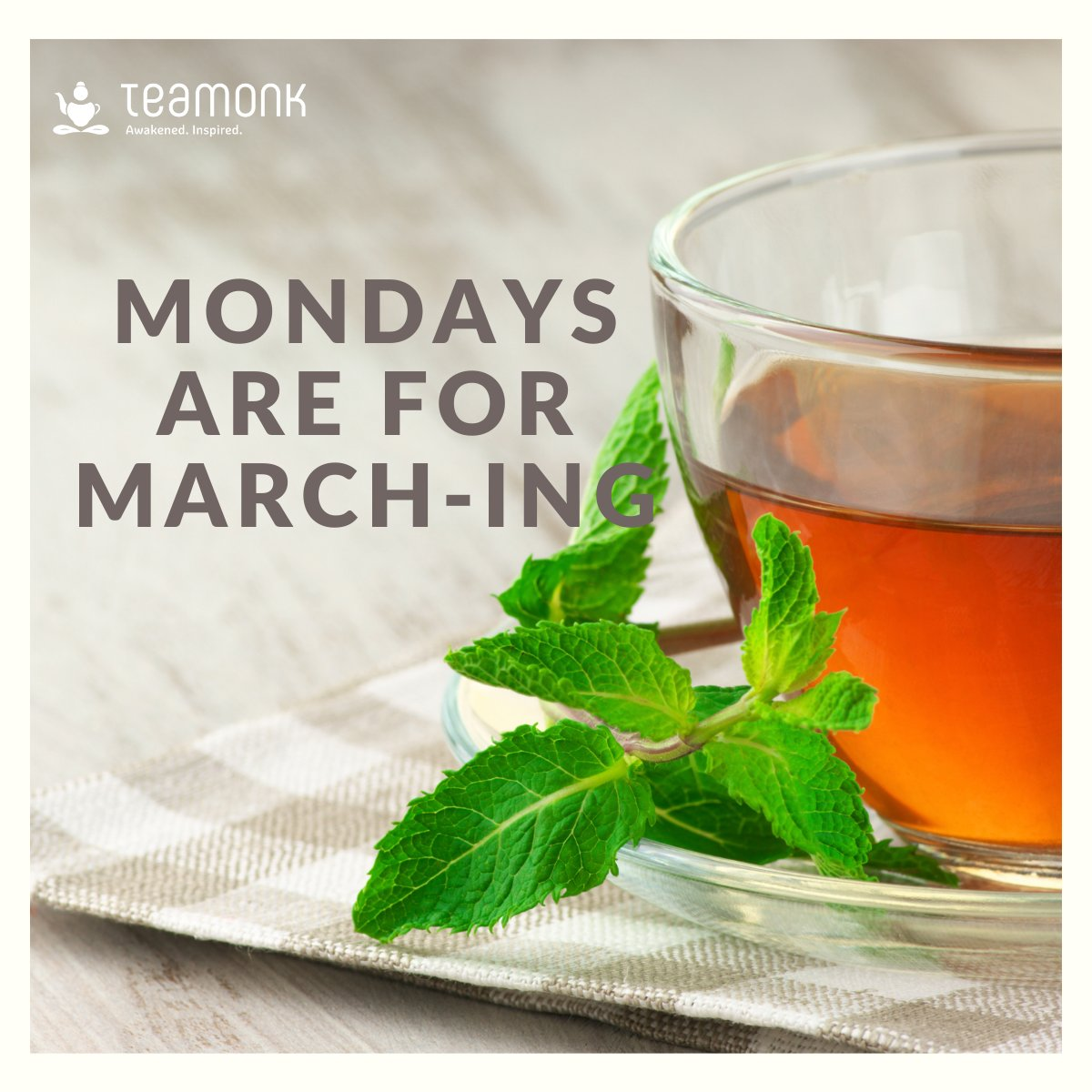 Let's get March going....and what better day than Monday. Black tea anyone?  #March #springiscoming #spring #march2021 #TeaMonk #detoxtea #Teatime #ayurveda #healthylifestyle #boostimmunity #Immunity #weatherchange #wellness #Tea #tealovers #ayurvedalifestyle #WhatIsInYourTeaBag