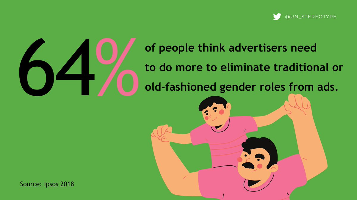 Replying to @un_stereotype: Retweet if you agree!   #UnstereotypeAlliance | Findings via @Ipsos