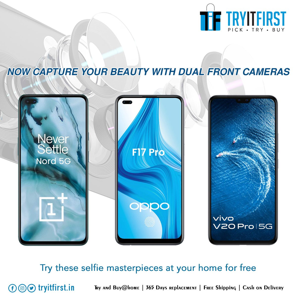The best selfie camera don't start and end with smartphones! While the trusty phone that's always by your side is undoubtedly a great tool for selfies.  Get your hands on these Dual Front Selfie Camera masterpieces   Shop Now:   #TryItFirst #selfie
