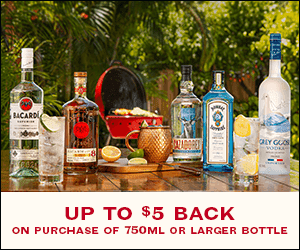 #ad MSG 4 21+ Now through 3/31/2021, while supplies last, you can earn a $5 off rebate on a purchase of 750ml or larger bottle from the Bacardi family of brands at any store! Check out the blog for more about this special rebate offer or text BACARDIHW to 81234.