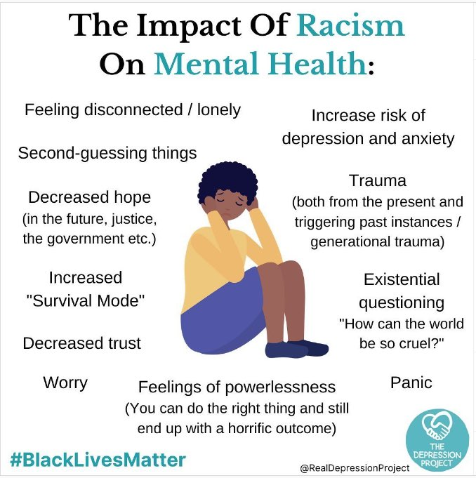Today is #BlackMentalHealthDay. Let's do all we can to combat and defeat #AntiBlackRacism, which can have a significant negative impact on the mental health of of racialized individuals and communities.