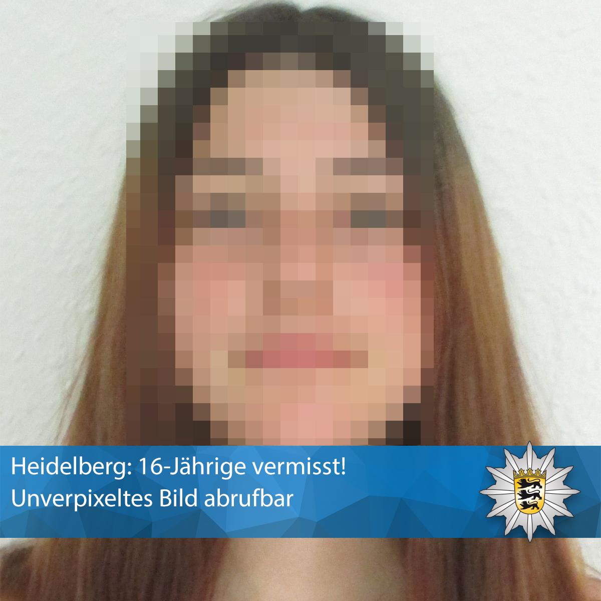 #Heidelberg: 16-Jährige #vermisst!   Bitte #RETWEETEN! ❗ Das unverpixelte Bild könnt Ihr direkt hier sehen: ➡