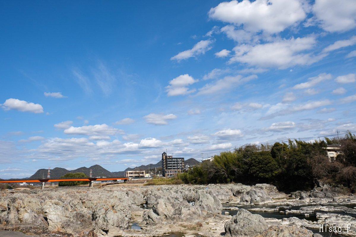 2021.03.01 兵庫県加東市 闘龍灘にて どこか近くで撮れるところ〜と思いついた場所がここでした😏 いい天気で空も気持ちよかった😊  #写真好きな人と繋がりたい #写真で伝える私の世界 #風景 #fujifilm_xseries #XS10 #photography #SnapShot