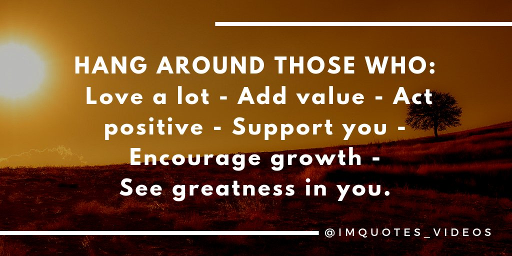 Replying to @IMQuotes_Videos: Spend time around those who align with your values.  #MondayMorning