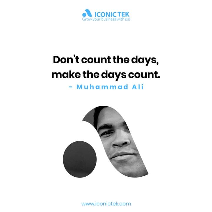 Not just count your days passing by, but consider your days for making something good during each of them. #mondaymotivation #nevergiveup #motivationalquotes #happymonday