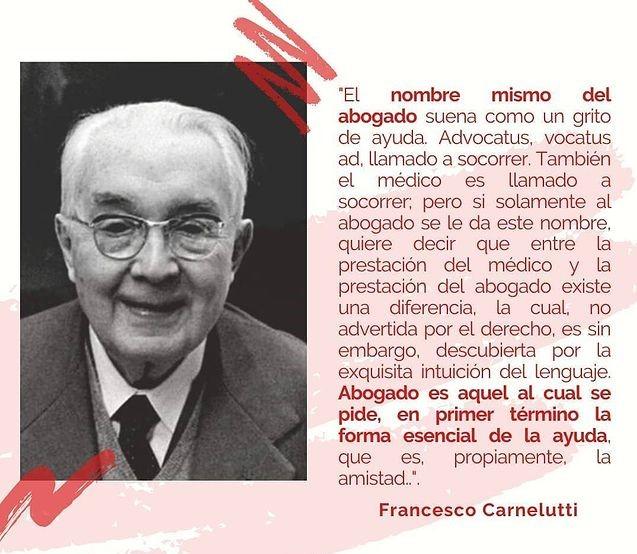 Francesco Carnelutti (1879-1965).  Fue uno de juristas italianos más eminentes de la historia. Catedrático de Derecho Civil y Penal. Sus investigaciones y sus tratados en el campo de la ética jurídica se han extendido en diversas áreas del Derecho.  #carnelutti #Derecho #quotes