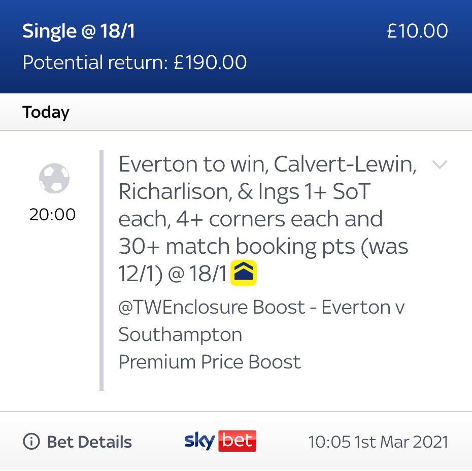 ❌ Was 12/1 😍 Boosted to 18/1  Tonights #MNF boost starts at 8pm ⏰  Get it straight to your betslips HERE >>   THE ONLY LINK YOU CAN GET IT ON 📲  #Ad | 18+ | T&C's Apply |  | Always Gamble Responsibly