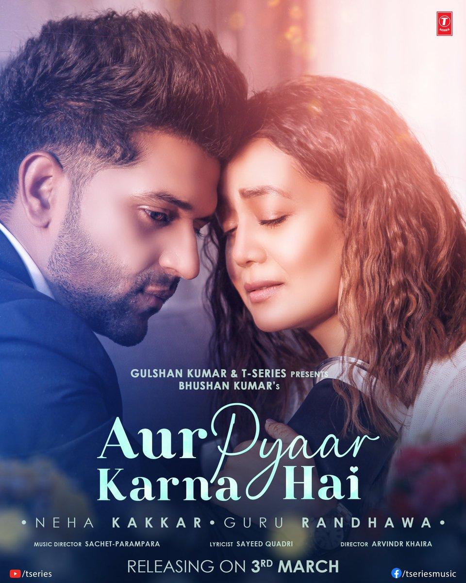 #AurPyaarKarnaHai teaches us about how love transcends mortality. 🎶💕 Song releasing on 3rd March at 11 am! Stay tuned!  #tseries @TSeries #BhushanKumar @iAmNehaKakkar @GuruOfficial  @sachet_tandon @ParamparaTandon @SachetParampara @SayeedQuadri2 #ThirstyFishStudio