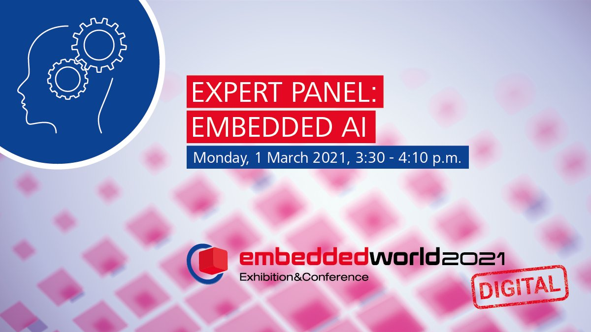 """#Ad  Don't miss the expert panel on the topic """"Embedded intelligence"""" is no longer a vision of the future"""" at 3:30 pm togeter with @nvidia @PHYTEC_GmbH @Azure with @AxelSikora   Find more details at:   Sign up for #ew21DIGITAL at:"""
