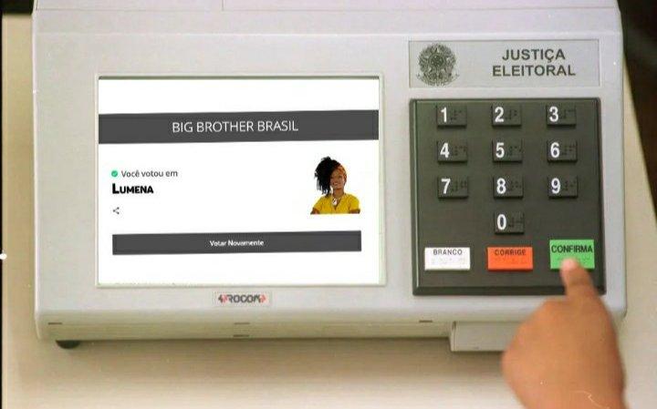 Bom dia só pra quem já votou #ForaLumena hoje !  😎 #BBB21 https://t.co/0QDgaVHlGN