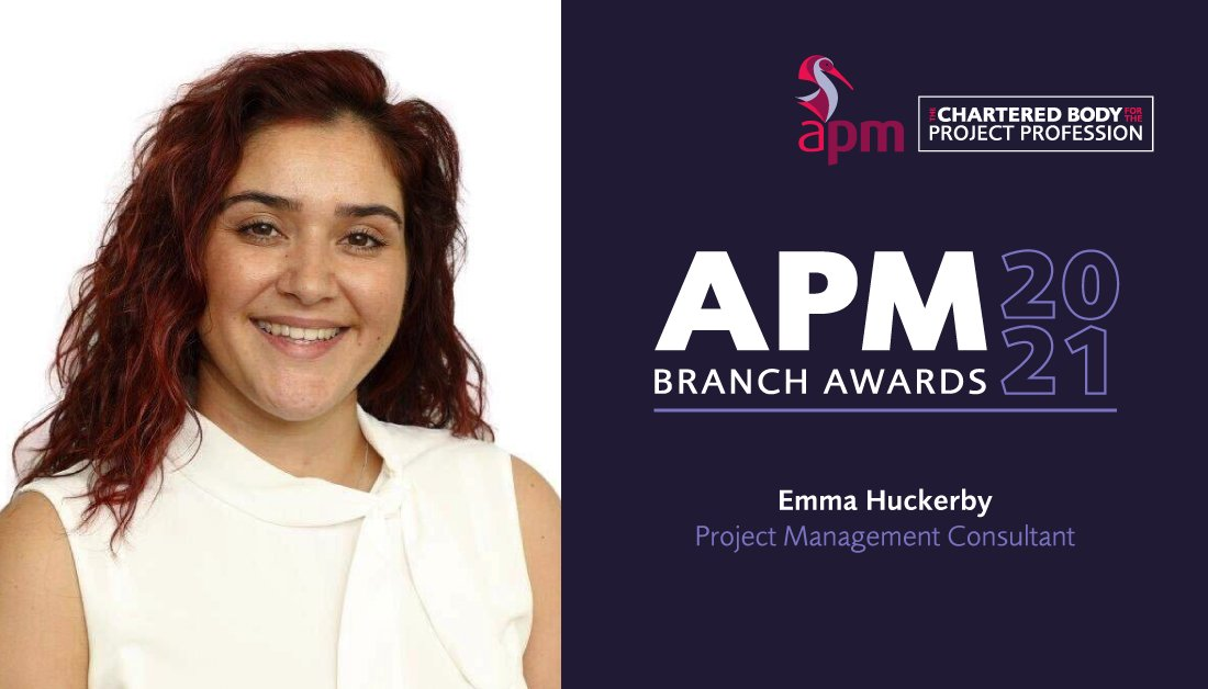 """Winning the student of the year for the branch has certainly provided me with a wider contact list in various industries."" Emma Huckerby, APM Branch Student of the Year Winner 2020.   Find out how you or someone you know could be this years winner: https://t.co/zMsJN4IvSO https://t.co/IcwyTy098k"