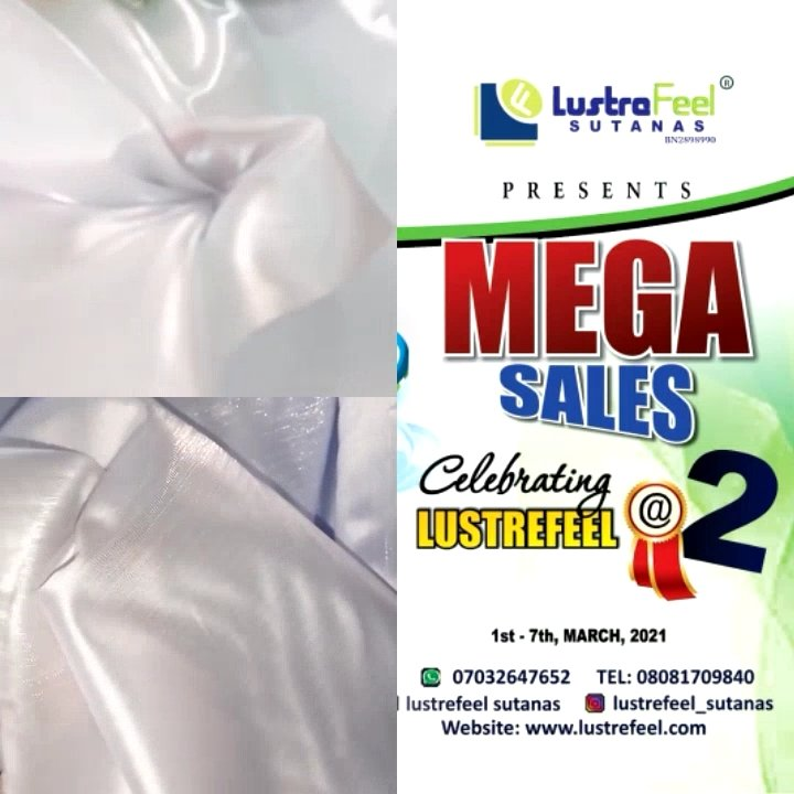 Do not miss this week bonanza sales in Celebration of Lustrefeel-Sutanas 2nd years anniversary. Buy for yourself now or save for the incoming Harvest period, Send as gifts to loved ones or buy for Kids. #mondaythoughts #march2021 #March1st  #worldremit #theftureis Happy New Month