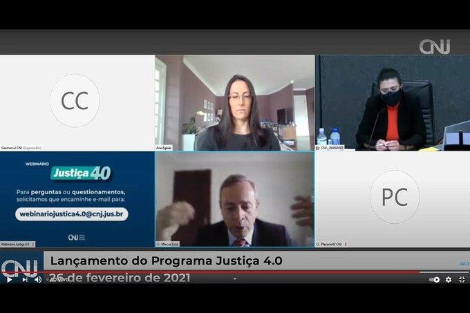 Webinário de Lançamento do programa Justiça 4.0