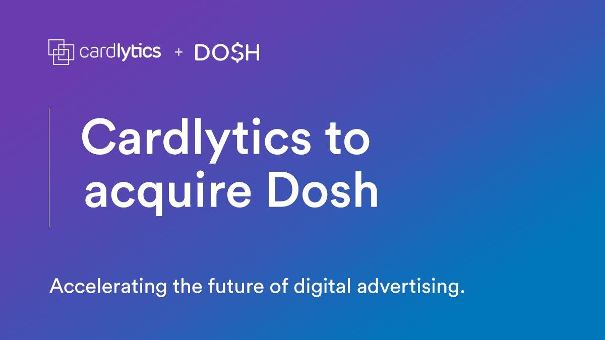 Congratulations to PayPal Ventures portfolio company @DoshApp on joining @Cardlytics!