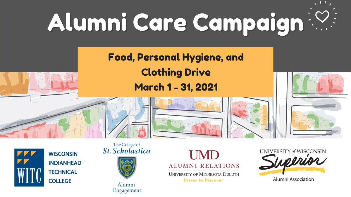 The UW-Superior Alumni Association has partnered with @UMNDuluth Alumni Relations, @WITCollege4U and @StScholastica Alumni Assoc...
