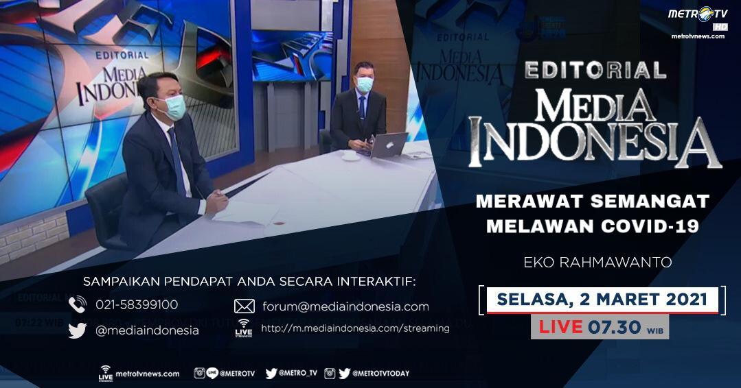 #EditorialMediaIndonesia hari Selasa (2/3) LIVE pukul 07.30 WIB akan membahas soal setahun COVID-19 mengekspansi Indonesia, bersama pembedah Eko Rahmawanto. @mediaindonesia