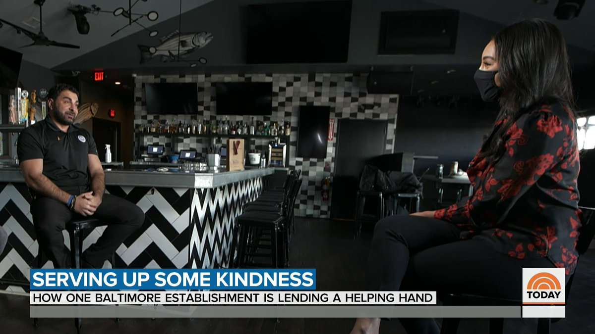Nearly one in six restaurants across the country has shut down over the past year, but many communities have rallied to keep their favorite spots open. @MorganRadford reports from Baltimore, where a local restaurant is stepping up to give support where it's needed most.