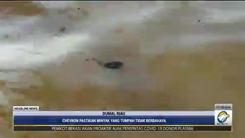 Kebocoran pipa minyak terjadi di perairan Dumai, Riau. Akibatnya bibir pantai laut Dumai tercemar. #HeadlineNewsMetroTV #KnowledgeToElevate