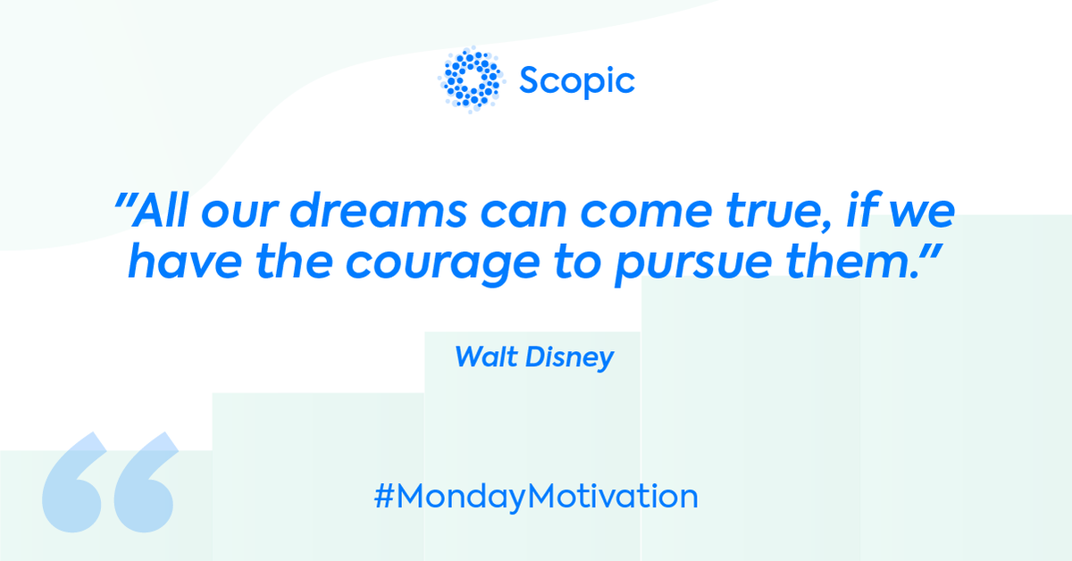 You need courage to follow your #dreams because there will always be obstacles you have to face before you get there! 🤩  #scopic #mondaymotivation #monday #motivation #mondaymood #motivationmonday #motivationalquotes #inspiration #mondayvibes #goals #quotes