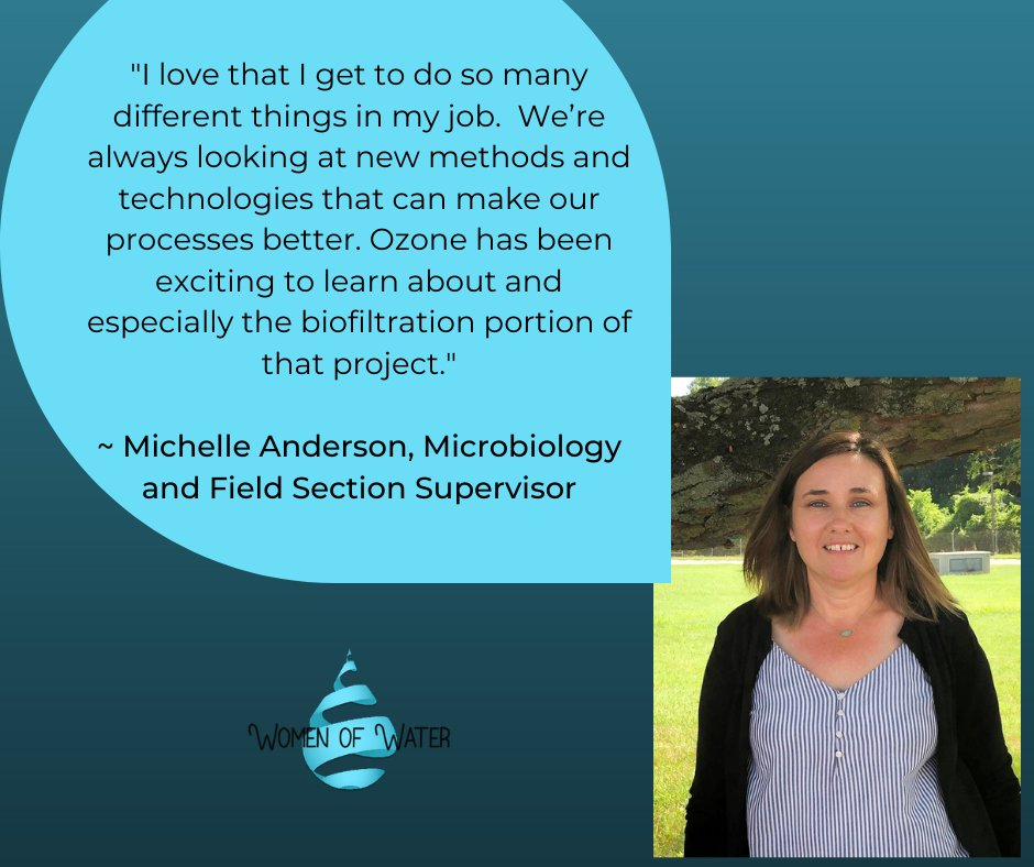 March is #WomensHistoryMonth & we're celebrating by showcasing some of our #WomenOfWater. Meet Michelle, Microbiology and Field Section Supervisor! 💧
