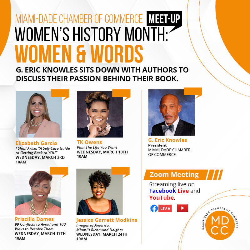Join MDCC and our President, for the Women's History Month: Women & Words Meet-Up Sessions, all of March. We will sit down with authors to discuss their passion behind their books. Streaming live on Facebook Live and YouTube. #MDCC #WomensHistoryMonth #WomenAuthors