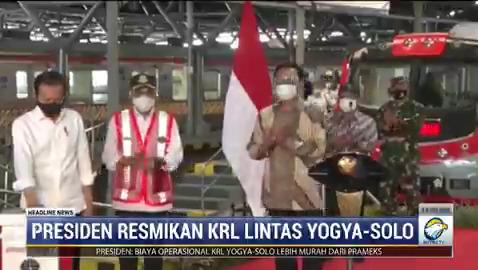 Presiden Joko Widodo meresmikan pengoperasian KRL lintas Yogyakarta-Solo pada Senin (1/3/2021) siang. KRL ini diklaim akan memperpendek waktu tempuh dan lebih ramah lingkungan. #HeadlineNewsMetroTV #KnowledgeToElevate